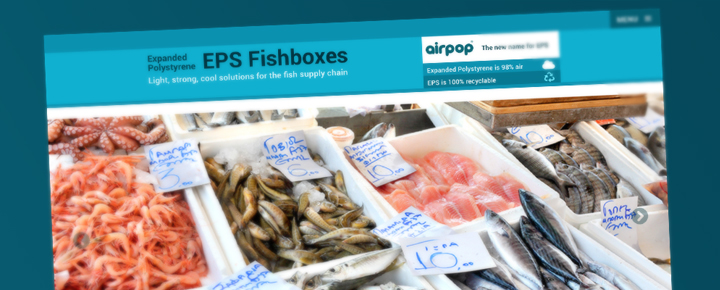 New web site reveals studies showing that expanded polystyrene (EPS) airpop is a big fish in protecting Britain's fishing industry